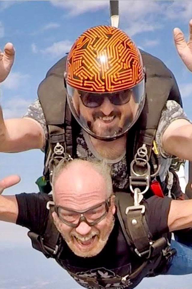 Garrett Trott tandem instructor and videographer at PNW Skydiving Center