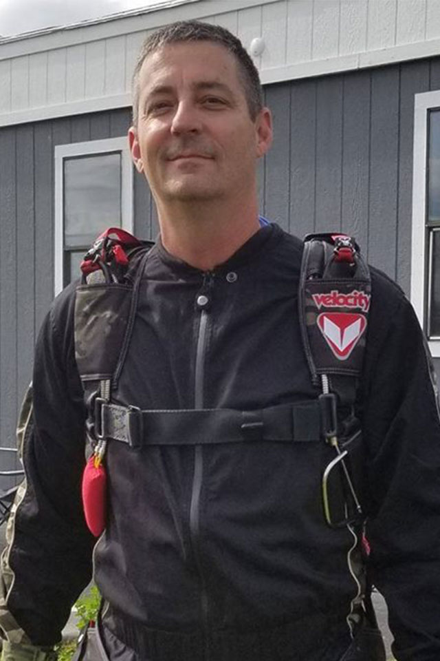Chuck Bannister USPA Coach, AFF, and Tandem Instructor at PNW Skydiving Center